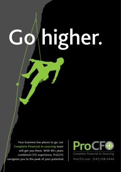 ProCFO Rock Climbing Ad copy